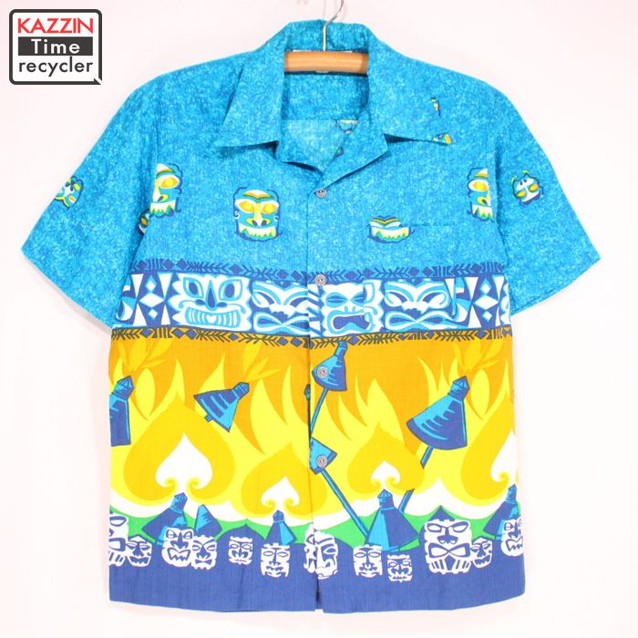 f955378e99739 Vine Clothing Kazzin Time Recycler Blue Hawaiian Ann Shirt