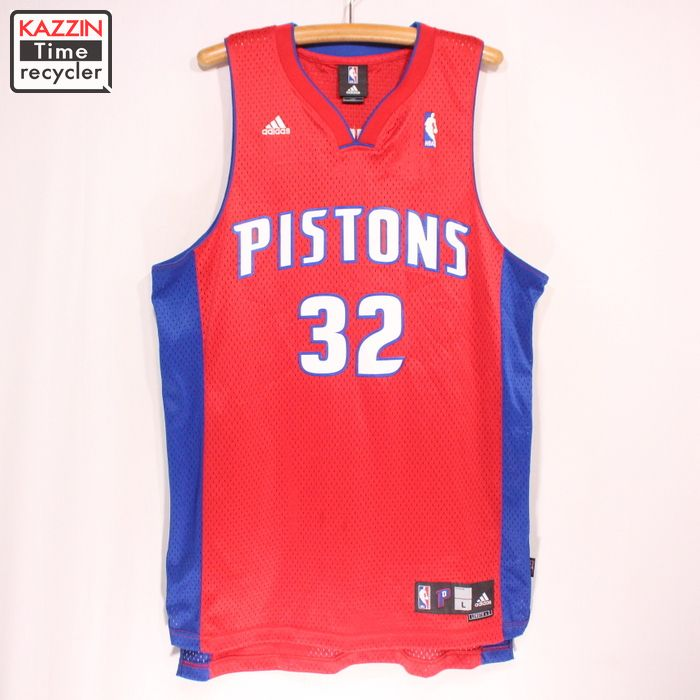 cheap for discount 15a62 078b1 Old clothes ADIDAS NBA Detroit Pistons Richard Hamilton game jersey ★ large  size red Christmas present gift