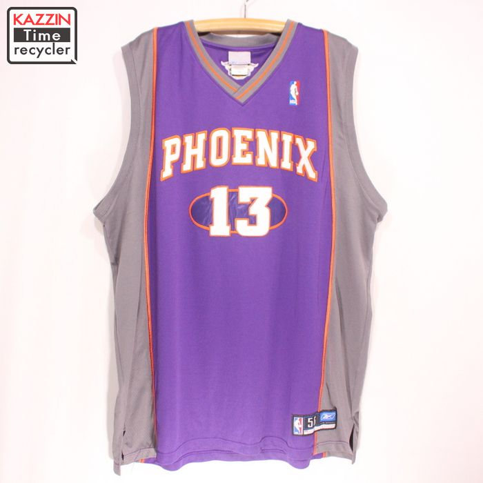 best sneakers f443c 46c32 Old clothes Reebok NBA Phoenix Suns Steve Nash game jersey ★ XL size BIG  size purple Halloween clothes disguise