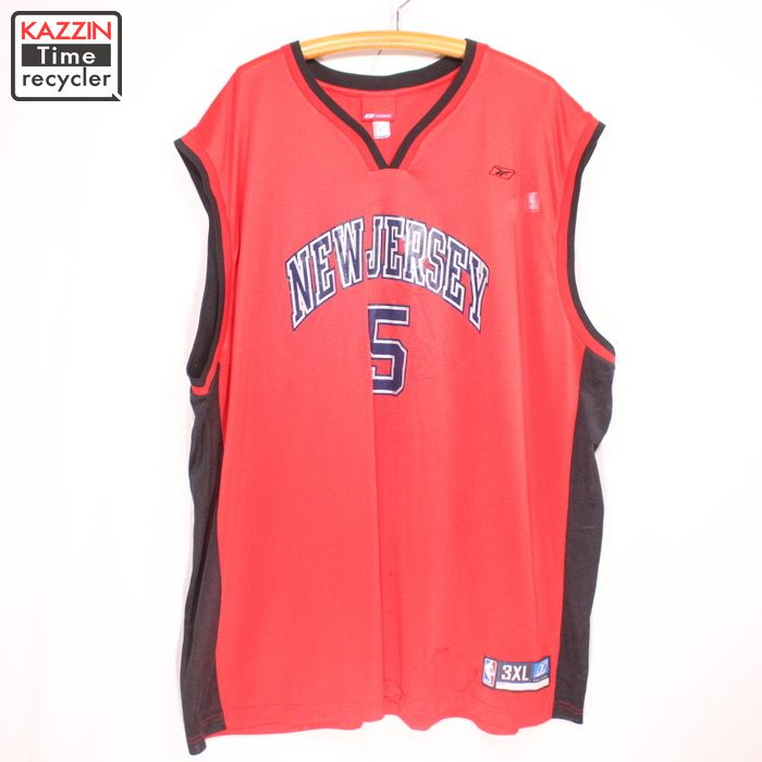 finest selection d6aeb c7c12 Old clothes Reebok NBA new jersey Nets Jason Kidd game jersey ★ XL size BIG  size red Christmas present gift