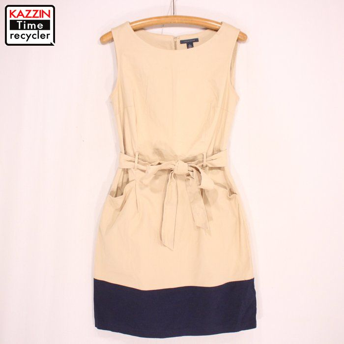 172b5c4cedb Old clothes Lady s TOMMY HILFIGER dress ☆ small size beige Christmas  present gift