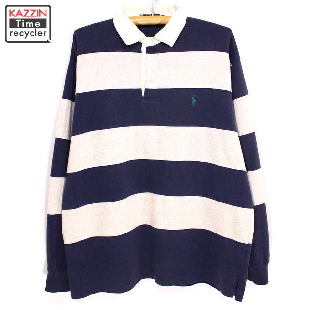 7cb954305bf ... best price old clothes 90s ralph lauren rugby shirt xl size navy ebaa5  106bf