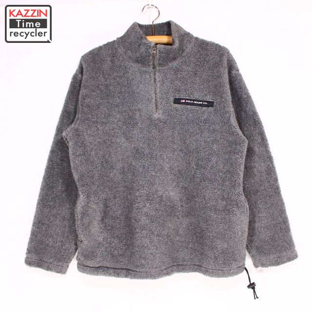 Christmas Present Ralph 90s Pullover Size JacketMedium Fleece Company Gray Jeans Old Clothes Polo Lauren Gift jL435ARcqS