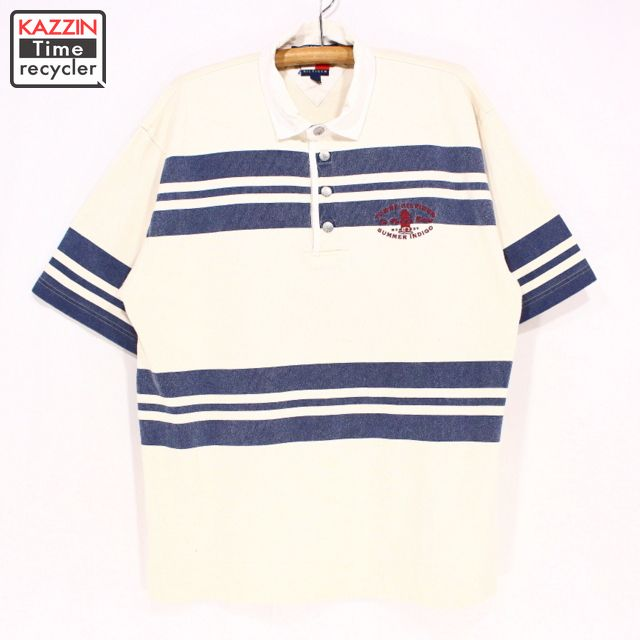 bd6b075e Old clothes TOMMY HILFIGER short sleeves polo shirt ☆ large size white