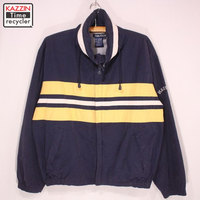 f5272f4b3 Old clothes 90s NAUTICA sailing jacket ★ XL size navy Christmas present gift