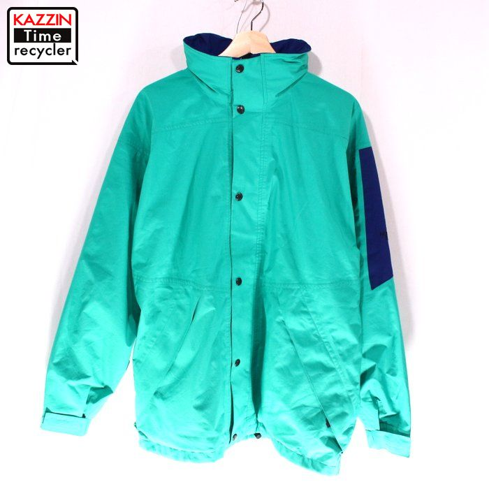 c97aa883a Green outdoor old clothes for 80s in the North Face vintage Gore-Tex nylon  jacket ★ large size 80s made in the United States