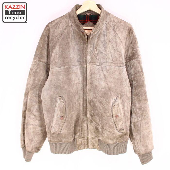 古着 80s THE FOX スエードジャケット G-9タイプ★Lサイズ グレー