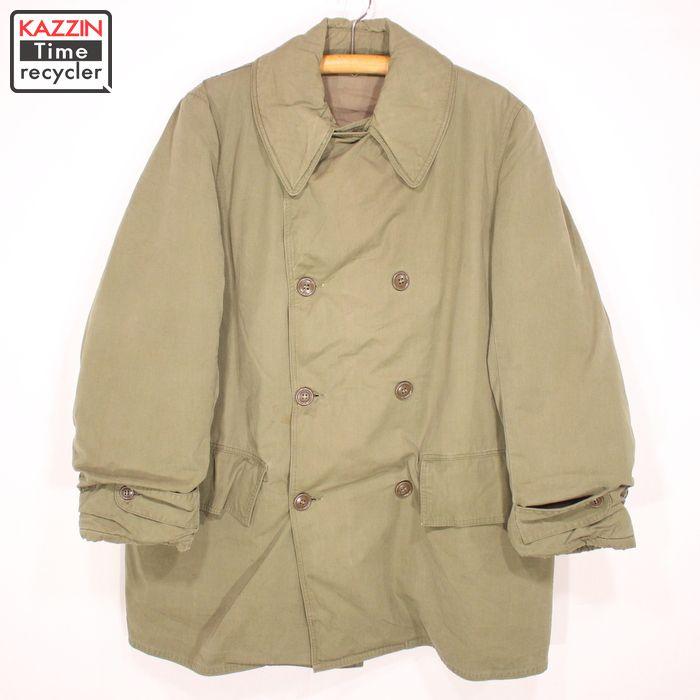古着 40s U.S.ARMY M-1943 マッキーノコート★XLサイズ カーキ