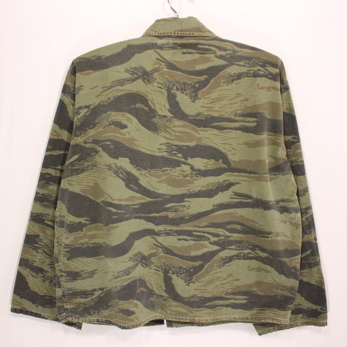 古着 ~70s ヴィンテージ 民間 タイガーカモストライプ シャツジャケット リップストップ地 militaryMサイズy76bfg