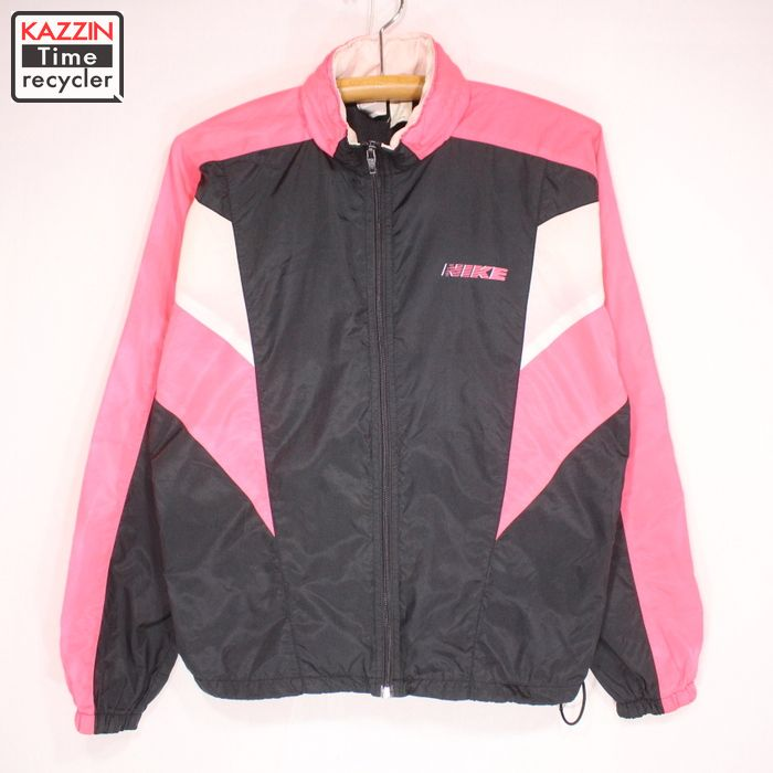 90年代 ナイキ ユーズド USED 中古 黒 フード収納型 ピンク ジャケット ブラック おすすめ特集 Sサイズ 開店記念セール ナイロン NIKE 90s 古着