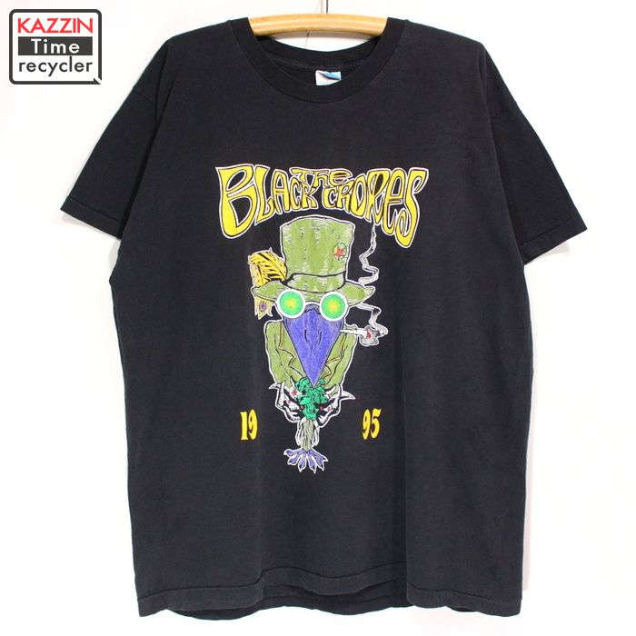 1995年製 TheBlackCrowes ヴィンテージ バンドTシャツ FRUIT OF THE LOOMボディ 古着 ★ XLサイズブラック