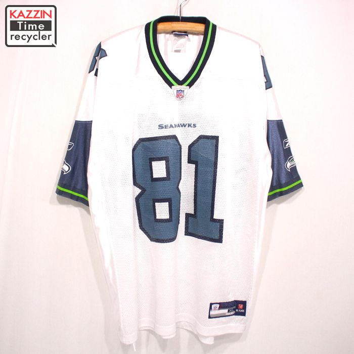 2000s NFL シアトル・シーホークス TATE 81 ゲームジャージ Reebok製 アメフト 古着 ★ XLサイズ ホワイト