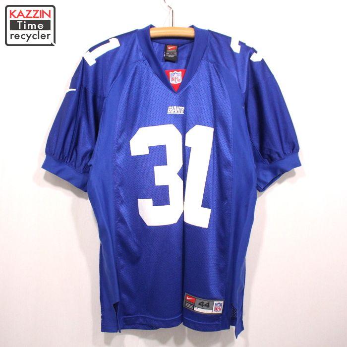 2000s NFL ニューヨーク・ジャイアンツ Jason Sehorn 31 ゲームジャージ NIKE製 古着 ★ Lサイズ ブルー