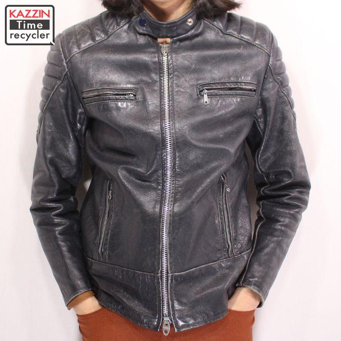 70s ビンテージ BRIMACO モトクロス ライダースジャケット 古着 ★ Lサイズ ブラック