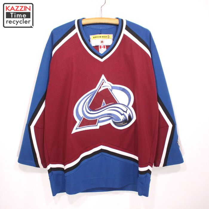 new styles a68a6 2d13b 90s NHL Colorado Avalanche hockey jersey old clothes ★ large size Bordeaux