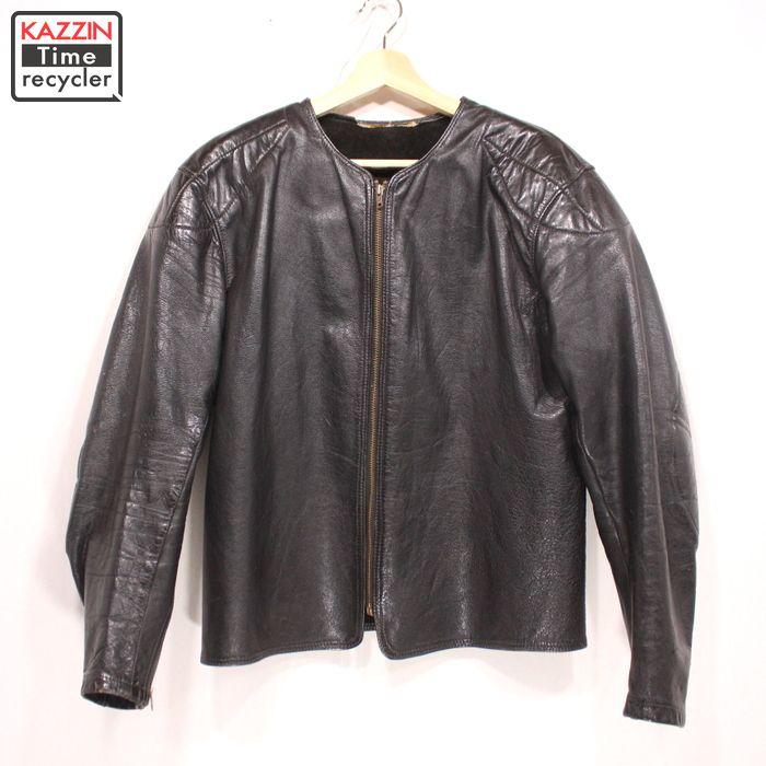 60s ビンテージ BATES シングル ライダースジャケット 古着 ★ Lサイズ ブラック