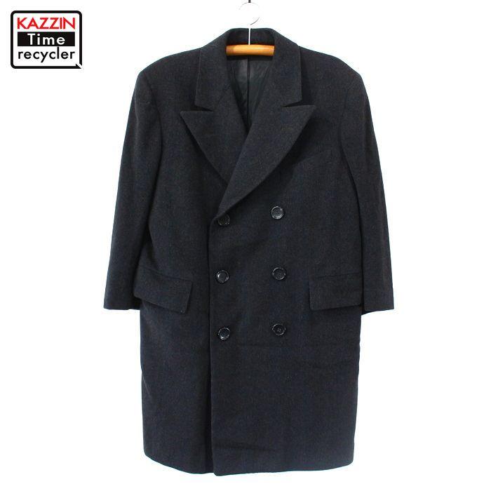 40s J.B.Simpson Inc ヴィンテージ ダブル ウール コート 古着 ★ Lサイズ ブラック