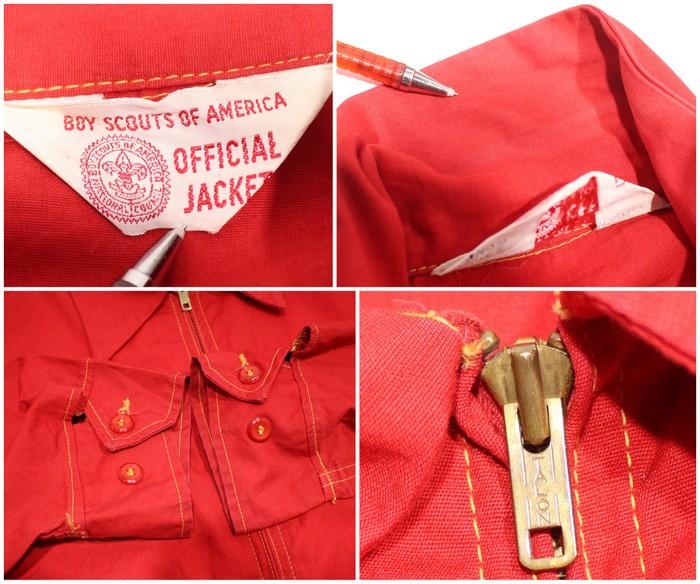 50s ヴィンテージ BSA ボーイスカウト ジャケット 古着Lサイズ レッドIgbfyvY67