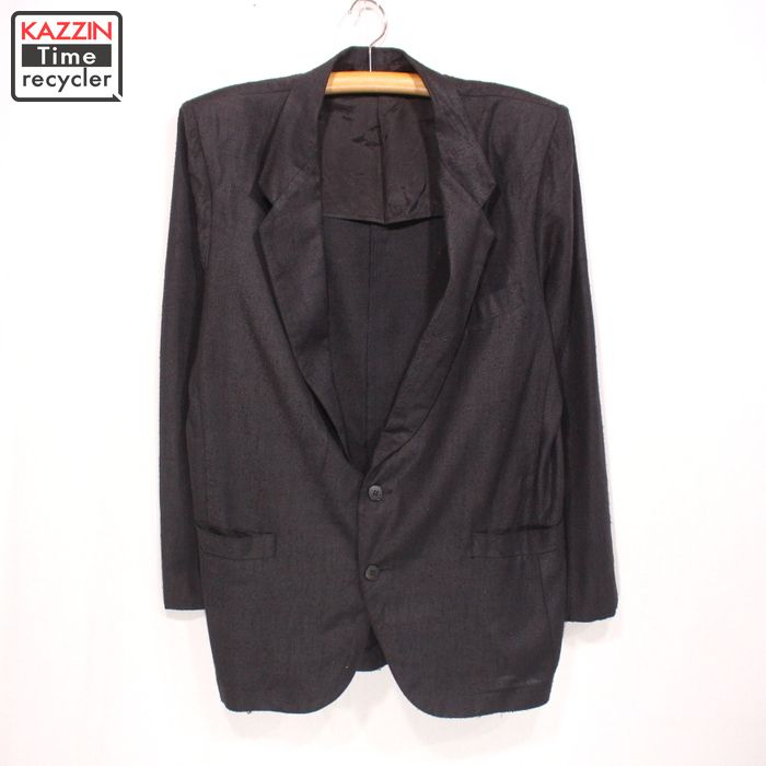 OLD リネン テーラードジャケット 古着 ★ Mサイズ ブラック