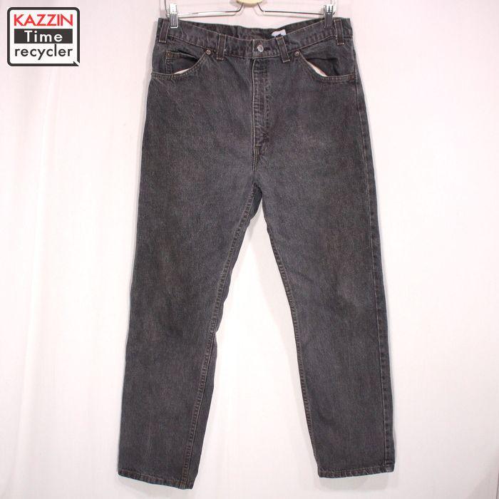 90s USA製 リーバイス 505 ブラック デニムパンツ 古着 ★ Lサイズ