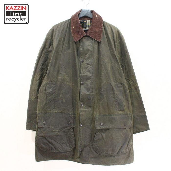 1996年製 バブアー ボーダー オイルド ジャケット コート イングランド製 古着 ★ 表記サイズ 44 カーキ