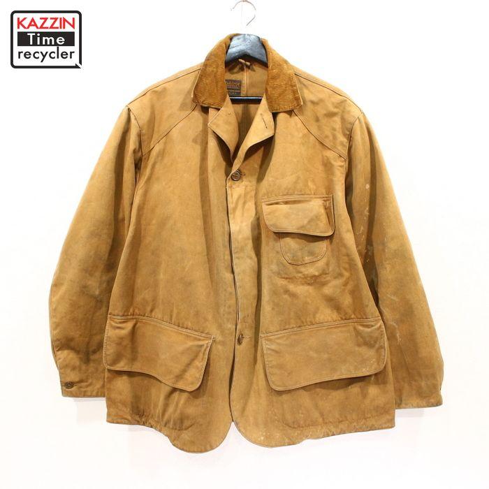 30~40s MOHAWK ダックスバック ヴィンテージ ハンティング ジャケット 古着 ★ XLサイズ ブラウン