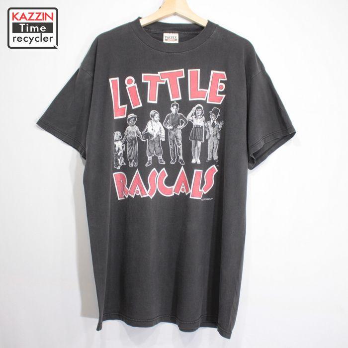 90s LITTLE RASCALS ムービー プリント Tシャツ 古着 ★ Lサイズ ブラック