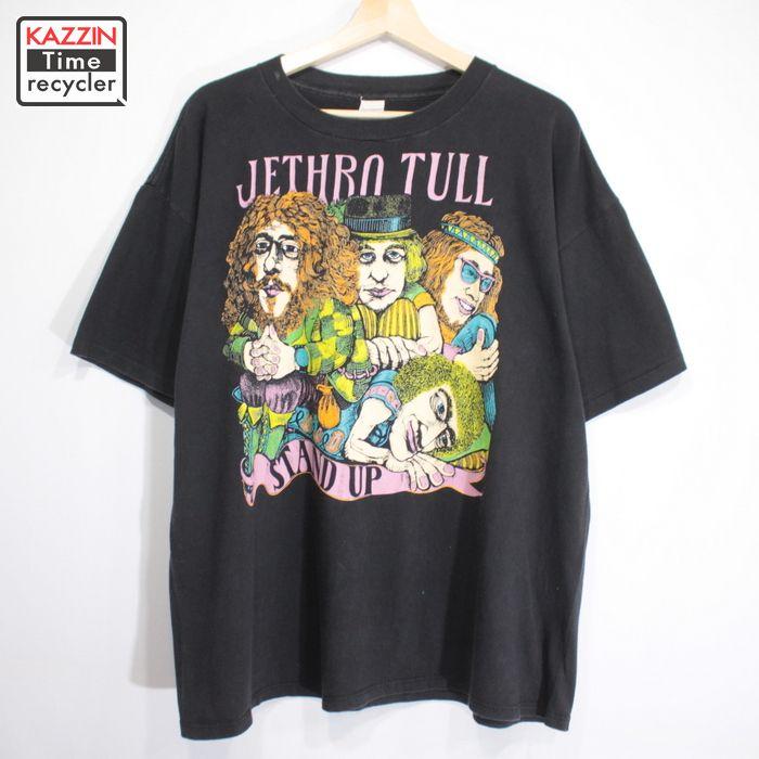 90s JETHRO TULL ロック プリント Tシャツ USA製 古着 ★ XLサイズ BIGサイズ ブラック