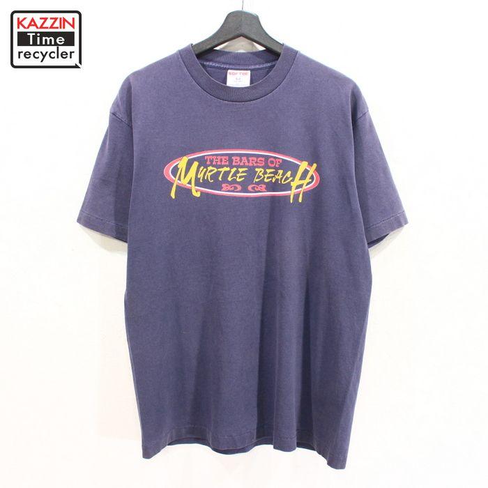 90年代 紺 アメリカ製 ハードロック フーターズ アメカジ 中古品 USED 90s USA製 半袖 Tシャツ ネイビー プリント 送料無料 激安 お買い得 キ゛フト ※ラッピング ※ 企業物 表記Lサイズ 古着 MURTLE BEACH