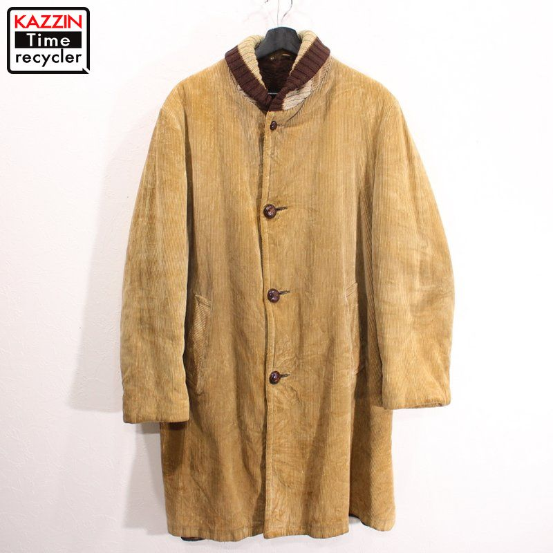 60年代 70年代 vintage アウター sears コーズ ハーフコート ボア アメカジ 中古 USED SEAL限定商品 Sportswear Oakbrook ファラオコート ビンテージ 古着 60s~70s 買収 ブラウン シアーズ コーデュロイ ベージュ Lサイズ