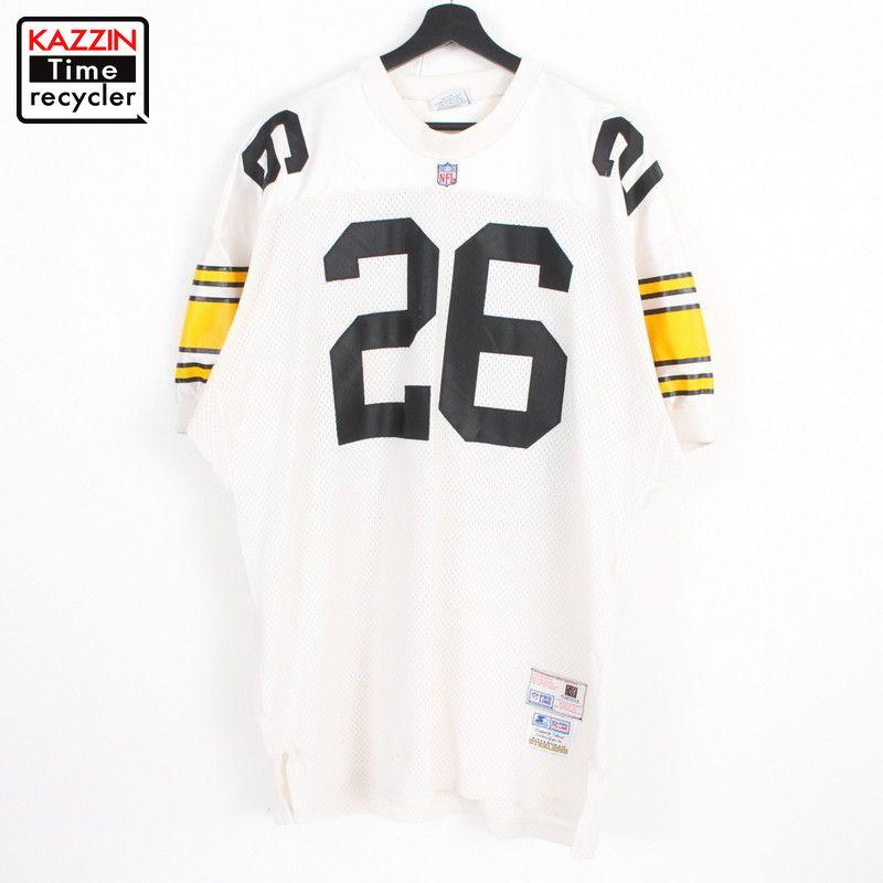 90年代 アメリカ製 Steelers Woodsonメッシュ ナンバリング 白 スターター ストリート オーバーサイズ 大きいサイズ 中古品 超激安 USED 90s USA製 STARTER ビッグサイズ アメフト 古着 ゲームジャージ 表記48 XLサイズ相当 ウッドソン ホワイト #26 ロッド 正規店 ピッツバーグ NFL ユニフォーム スティーラーズ オーセンティック