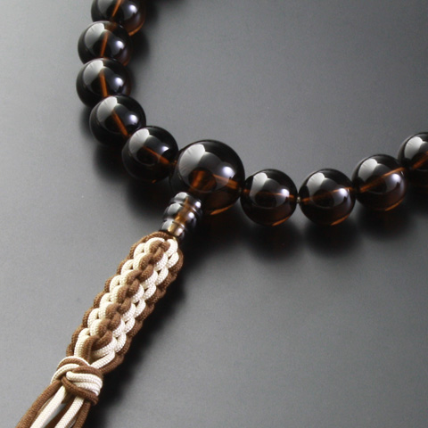 "Rosaries and Rosary ""! Crochet string bunch brown crystal (for men) ' informal hand wheel Jodo Shinshu hongan-ji Temple"