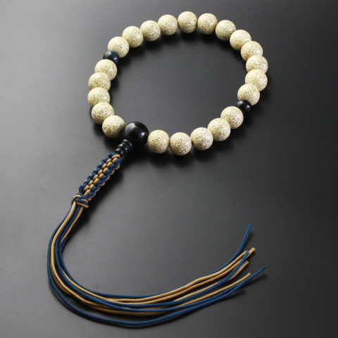 "Rosaries and Rosary ""! Crochet string bunch hoshitsuki Linden blue tiger eye stone style (for men) ' informal hand wheel Jodo Shinshu honganji Temple [hawksai] (men's bracelet Kyoto prayer beads Jodo sect funeral ceremonies)"