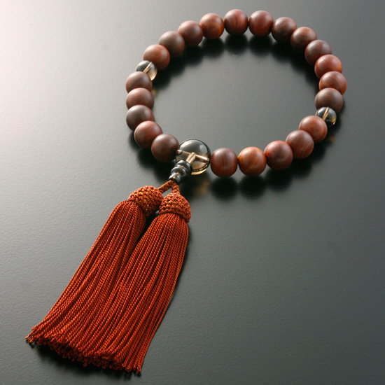 "Rosaries and Rosary ""Silk head tuft (great ground) rosewood Brown quartz cut (for men) ' M-050 informal hand wheel 10P07Nov15"