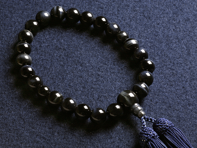 "Rosaries and Rosary ""! Head tuft blue tiger eye stone (for men) ' short hand wheel"