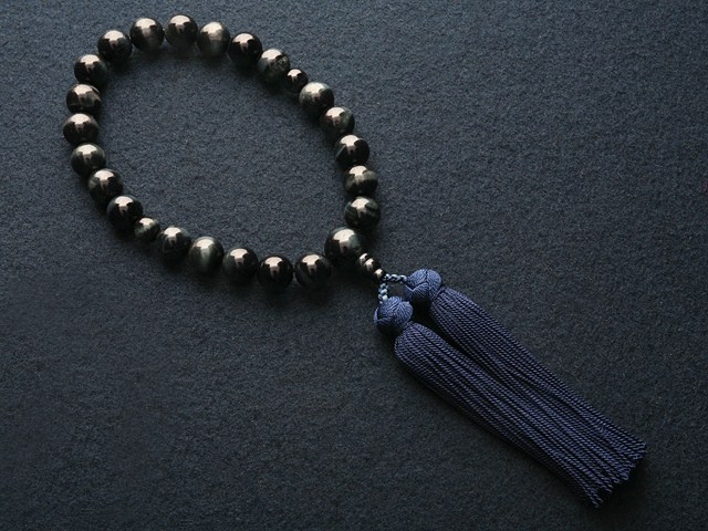 "Rosaries and Rosary ""! Miyako bunch ( silk ) blue tiger eye stone ( men's Rosary ) ' informal Rosary hand wheel"