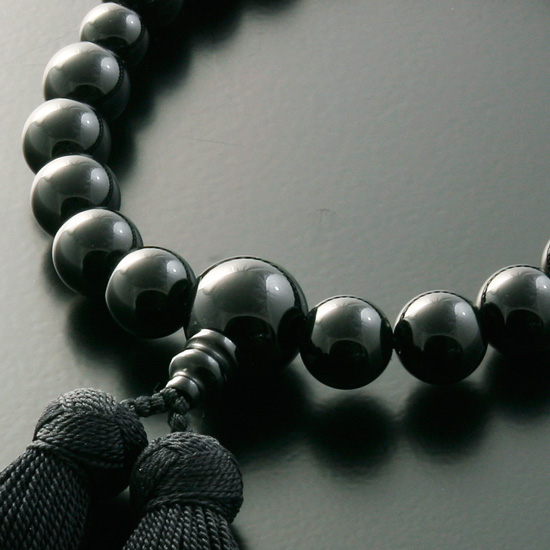 "Rosaries and Rosary ""! Miyako bunch Black Onyx (men) ' short hand wheel"