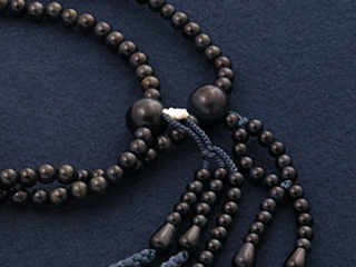 """Rosaries and Rosary """"! Nichiren Buddhism isometric 2 blue tiger eye stone (facing men) ' officially a regular book coupled two-wheel double"""