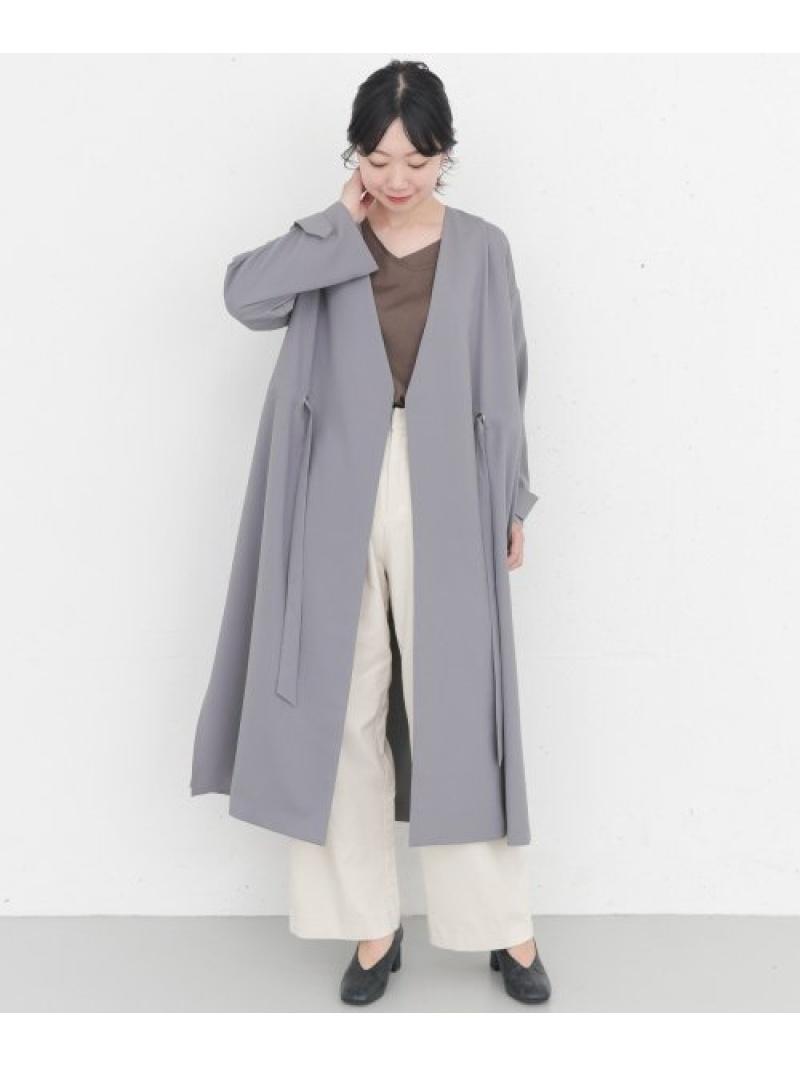 [Rakuten Fashion]KBF+アイレットVネックコート KBF ケービーエフ コート/ジャケット コート/ジャケットその他 ブルー グレー ベージュ【送料無料】