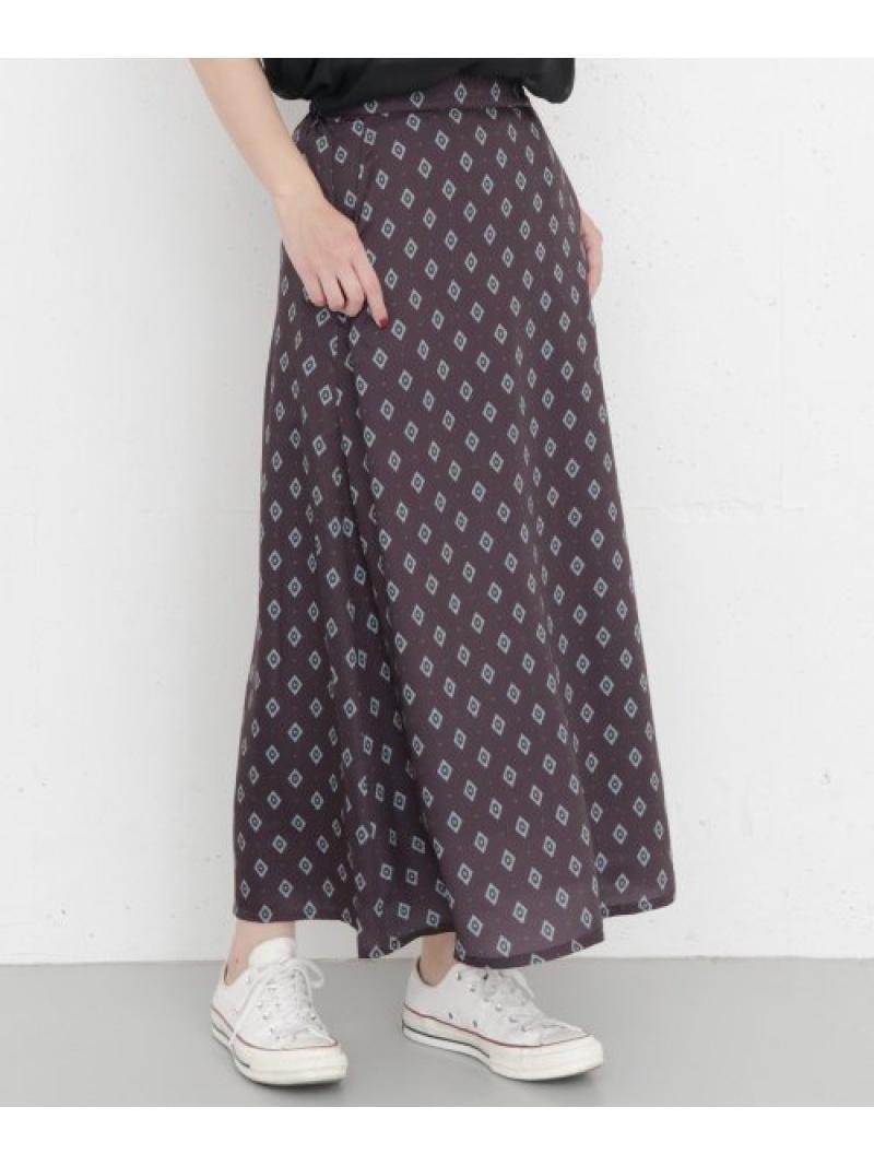 [Rakuten Fashion]KBF+レトロパターンロングスカート KBF ケービーエフ スカート スカートその他 パープル イエロー【送料無料】