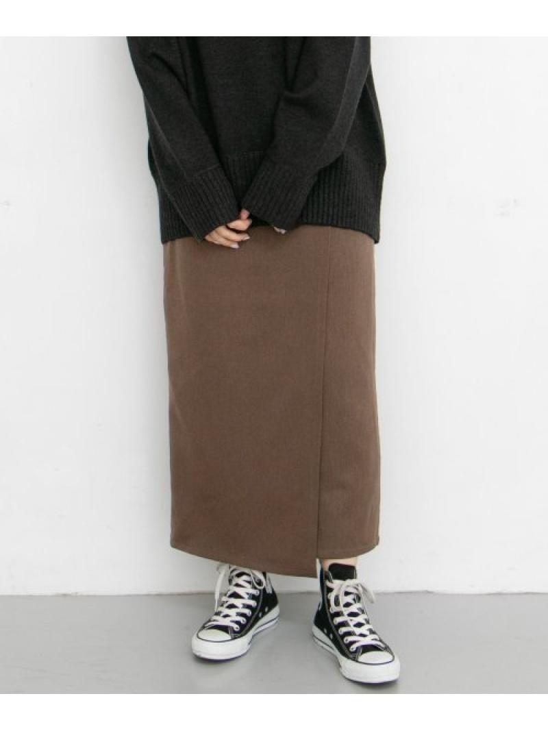 [Rakuten Fashion]サイドベルトボタンラップスカート KBF ケービーエフ スカート スカートその他 ブラウン グレー【送料無料】