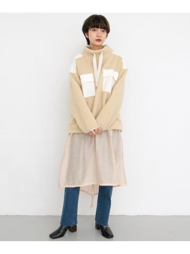 [Rakuten Fashion]ボアドッキング2WAYワンピース KBF ケービーエフ ワンピース ワンピースその他 ベージュ グレー【送料無料】