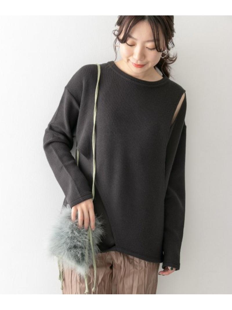 [Rakuten Fashion]KBF+レイヤードリブカットソー KBF ケービーエフ カットソー Tシャツ グレー ホワイト ブラウン【送料無料】