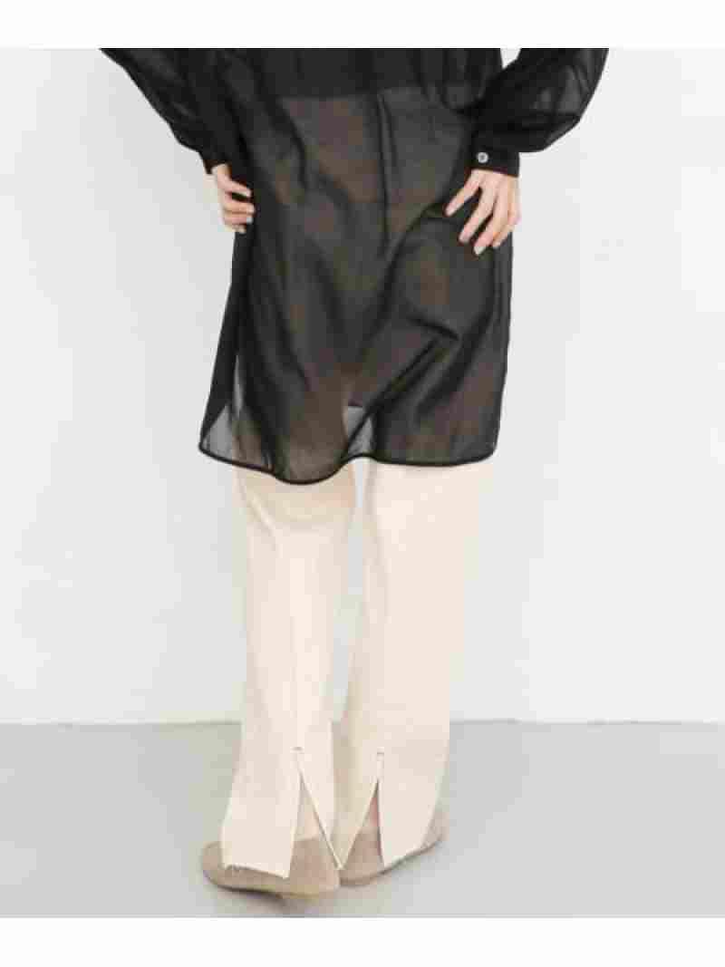 [Rakuten Fashion]BACKスリットストレートデニム KBF ケービーエフ パンツ/ジーンズ ジーンズその他 ブルー ホワイト【送料無料】