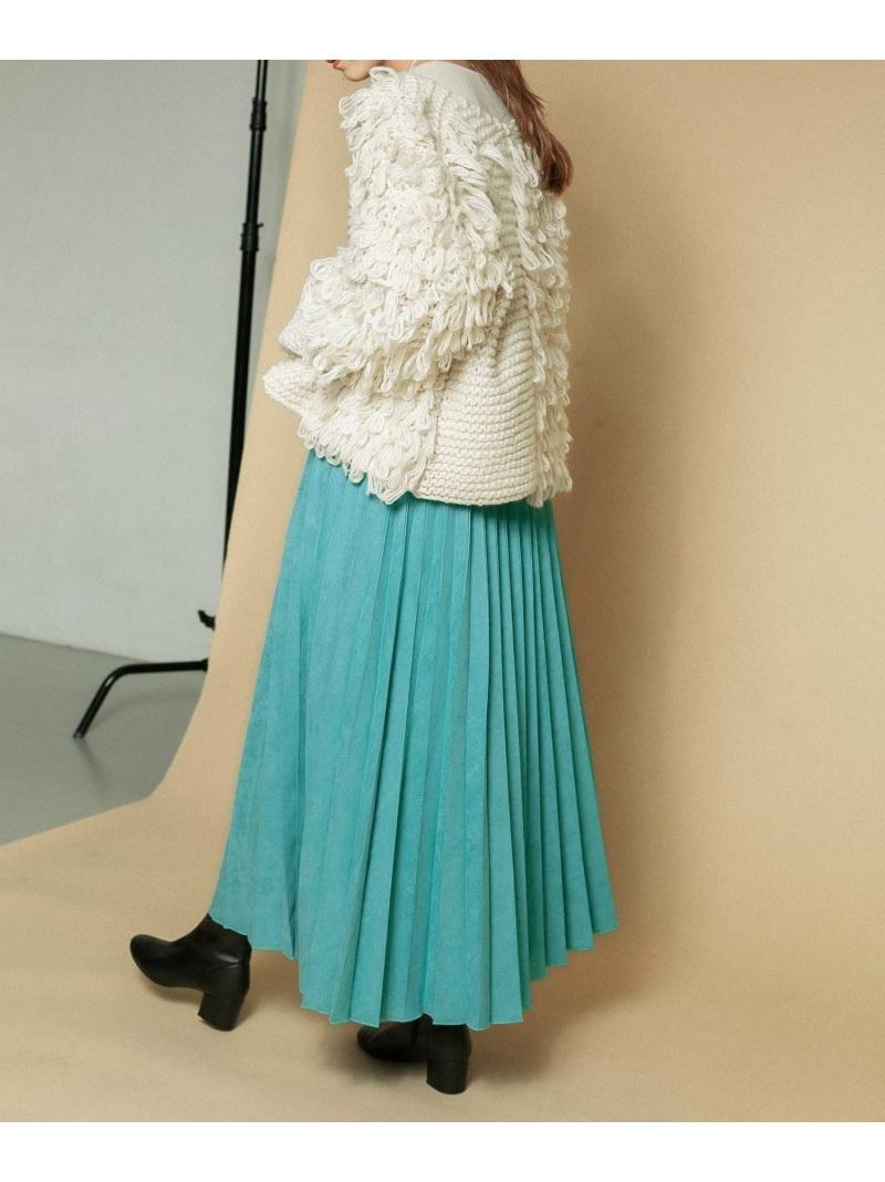 KBF_autumn0908 70%OFFアウトレット kbf_preorder_0824 KBF レディース スカート ケービーエフ スエードプリーツスカート スカートその他 ブルー Fashion Rakuten グレー 送料無料 ホワイト 超激安