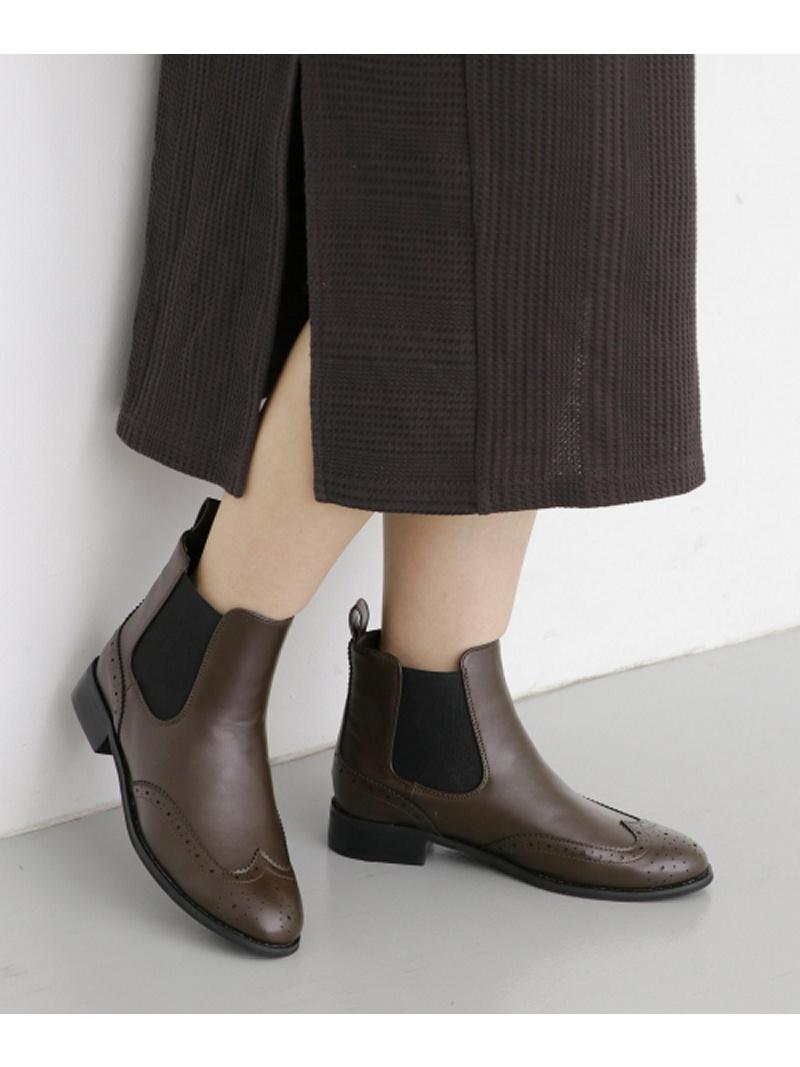 [Rakuten Fashion]【SALE/30%OFF】ウィングチップサイドゴアブーツ KBF ケービーエフ シューズ ショートブーツ/ブーティー ブラウン ブラック【RBA_E】【送料無料】