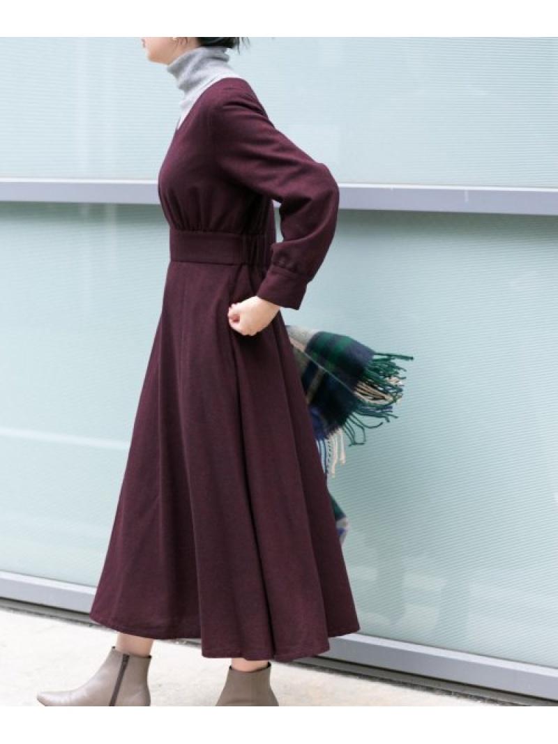 [Rakuten Fashion]KBF+ツイードフレアワンピース KBF ケービーエフ ワンピース ワンピースその他 パープル ブラウン ブラック【送料無料】