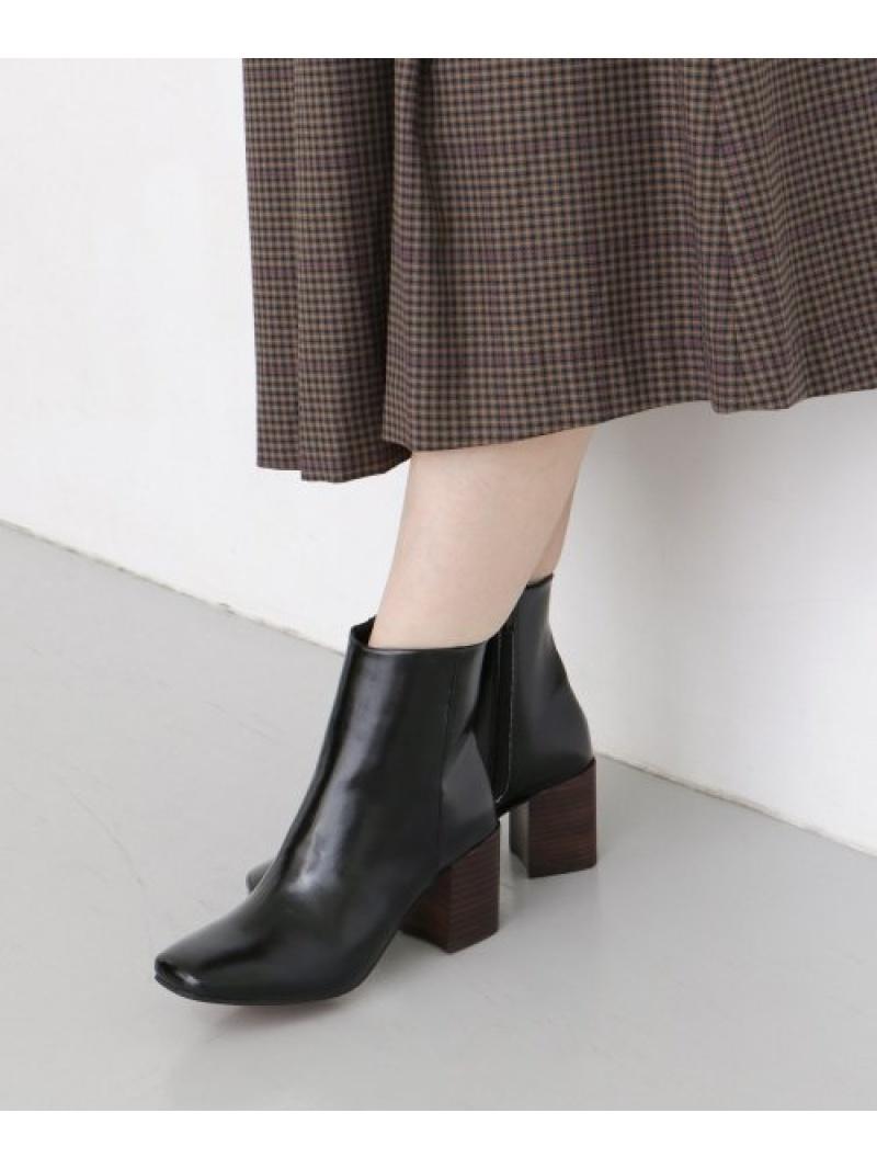 [Rakuten Fashion]スクエアトゥブーツ KBF ケービーエフ シューズ ショートブーツ/ブーティー ブラック ホワイト【送料無料】