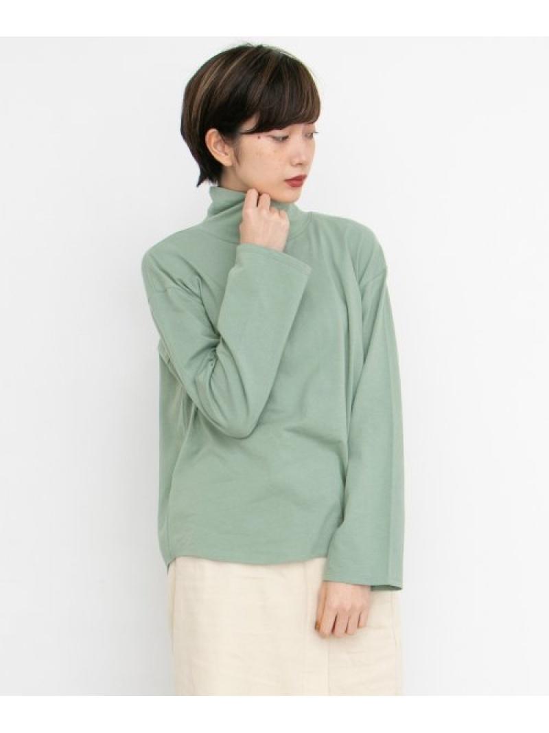 [Rakuten Fashion]バックスリットハイネックプルオーバー KBF ケービーエフ カットソー Tシャツ ホワイト ベージュ ブラウン【送料無料】