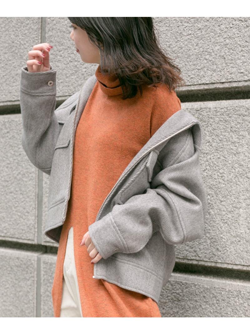[Rakuten Fashion]【SALE/50%OFF】KBF+CPOジップブルゾン KBF ケービーエフ コート/ジャケット ブルゾン グレー ブラック【RBA_E】【送料無料】